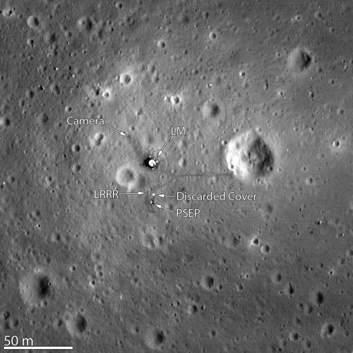 Photo of Apollo 11's landing site.